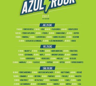 Grilla del Azul Rock 2017