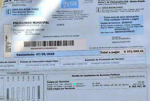 Tarifazo de AySA  A un hospital público le llegó una boleta de agua de más de $370 mil
