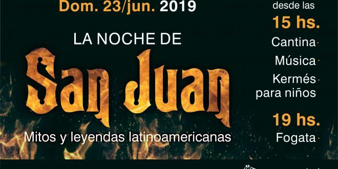Este domingo se realizará la Noche de San Juan